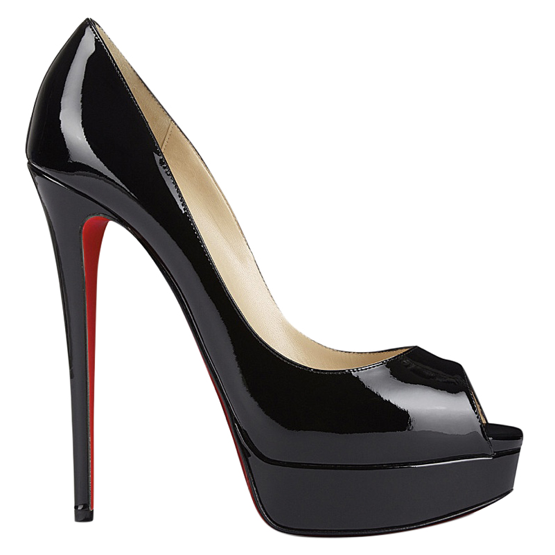 Christian Louboutin Lady Peep 150mm Patent Leather Heels  d105d9d83054