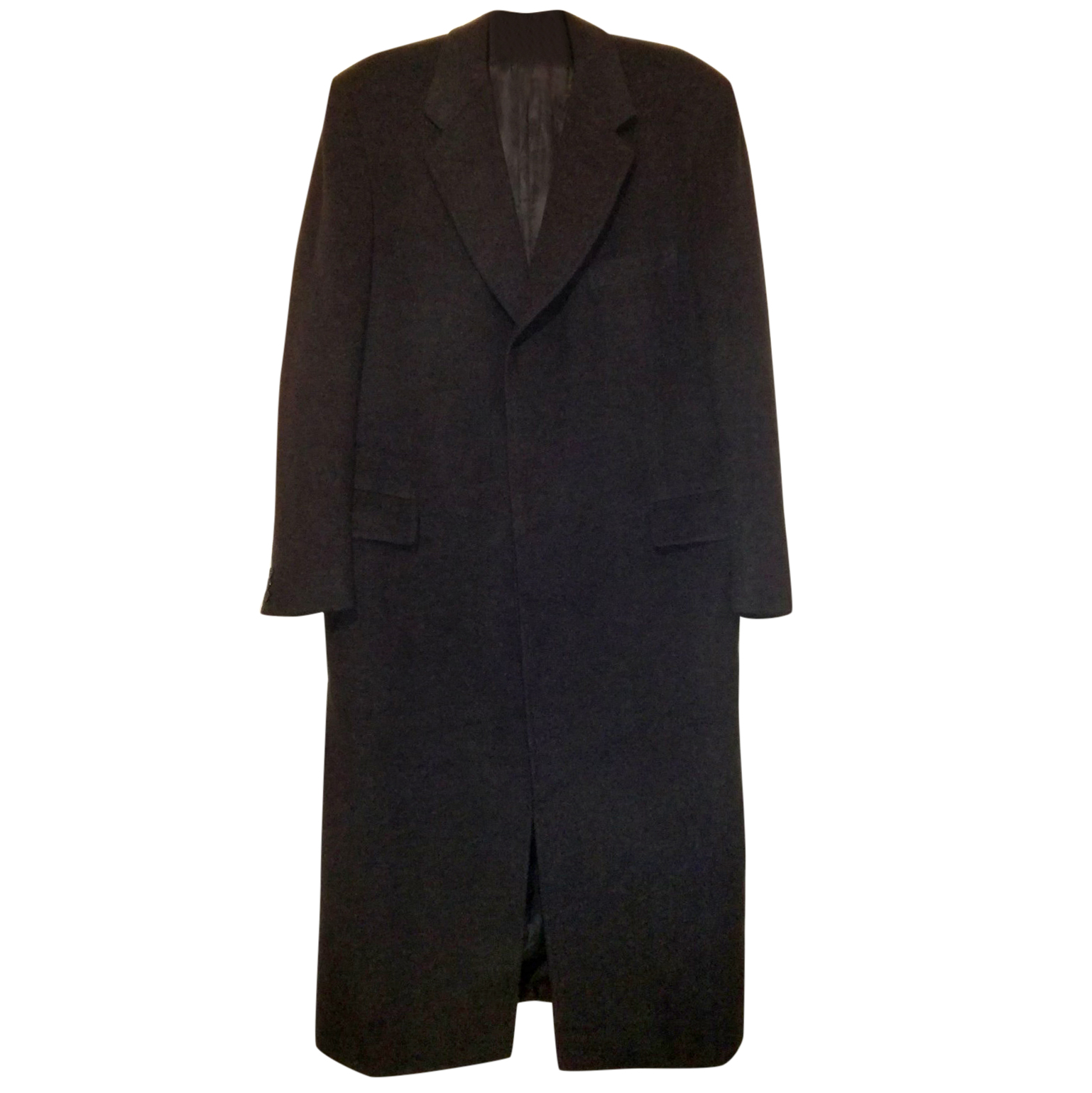 Chester Barrie Black Cashmere Chesterfield Coat