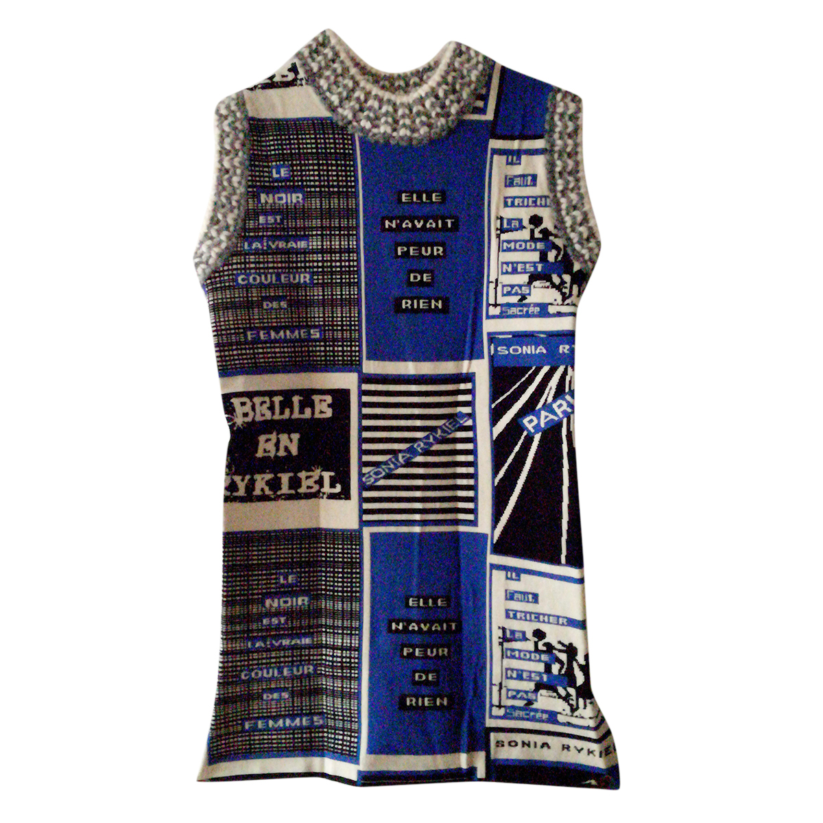Sonia Rykiel intarsia-knit sleeveless top