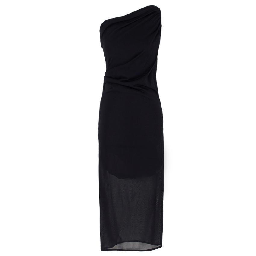 Alexander McQueen one-shoulder midi dress