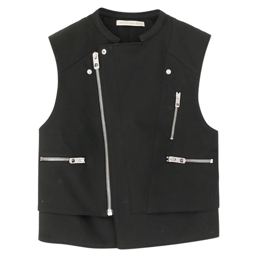 Balenciaga Black Multi-Zip Biker Gilet