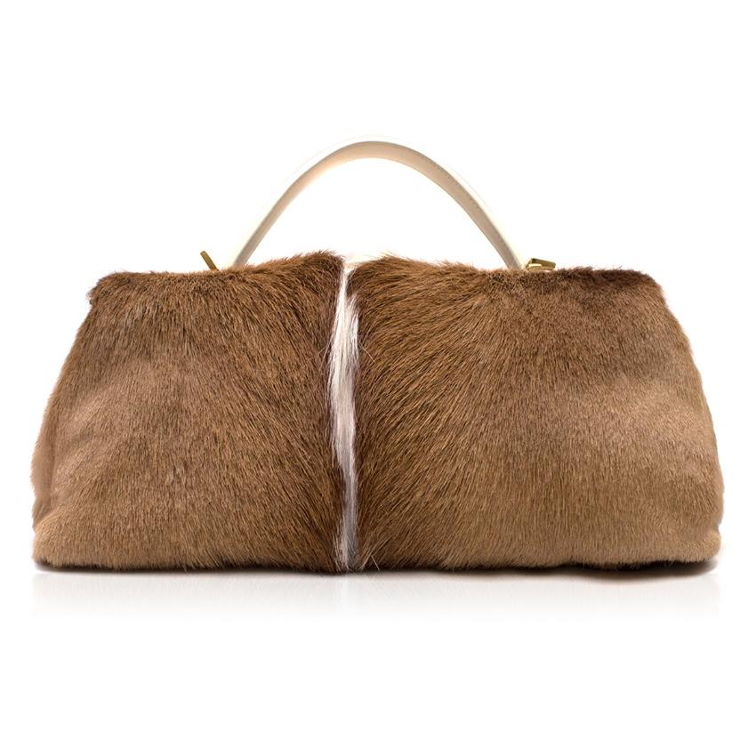 Salvatore Ferragamo Fur Bowling Bag