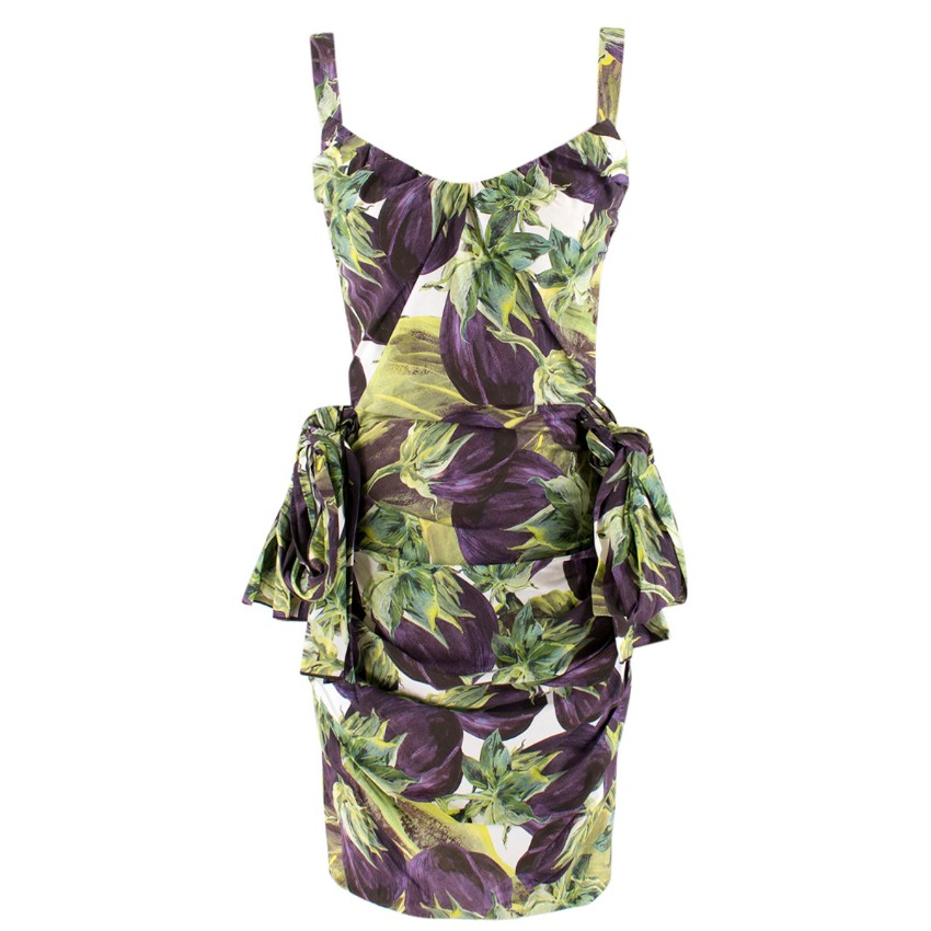 cbf033c3 Dolce Gabbana Aubergine Print Dress | HEWI London
