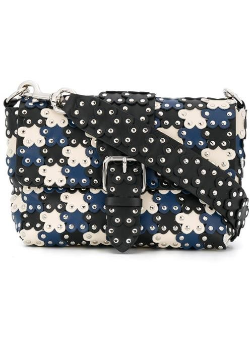 Red Valentino floral studded puzzle bag