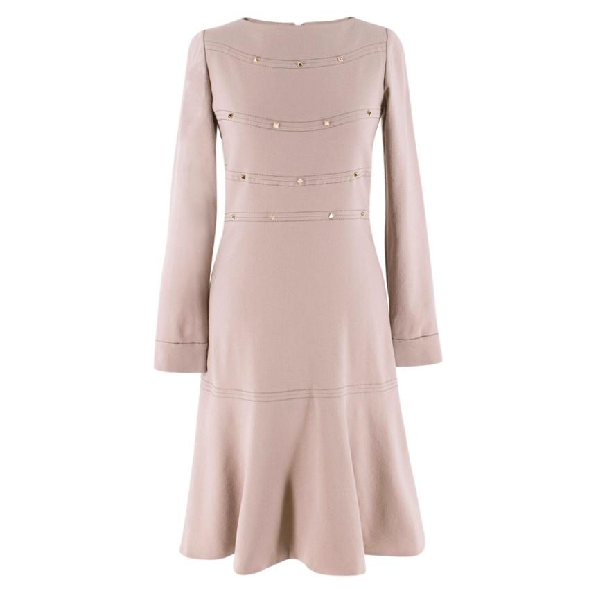 Valentino Nude Rockstud A-Line Dress