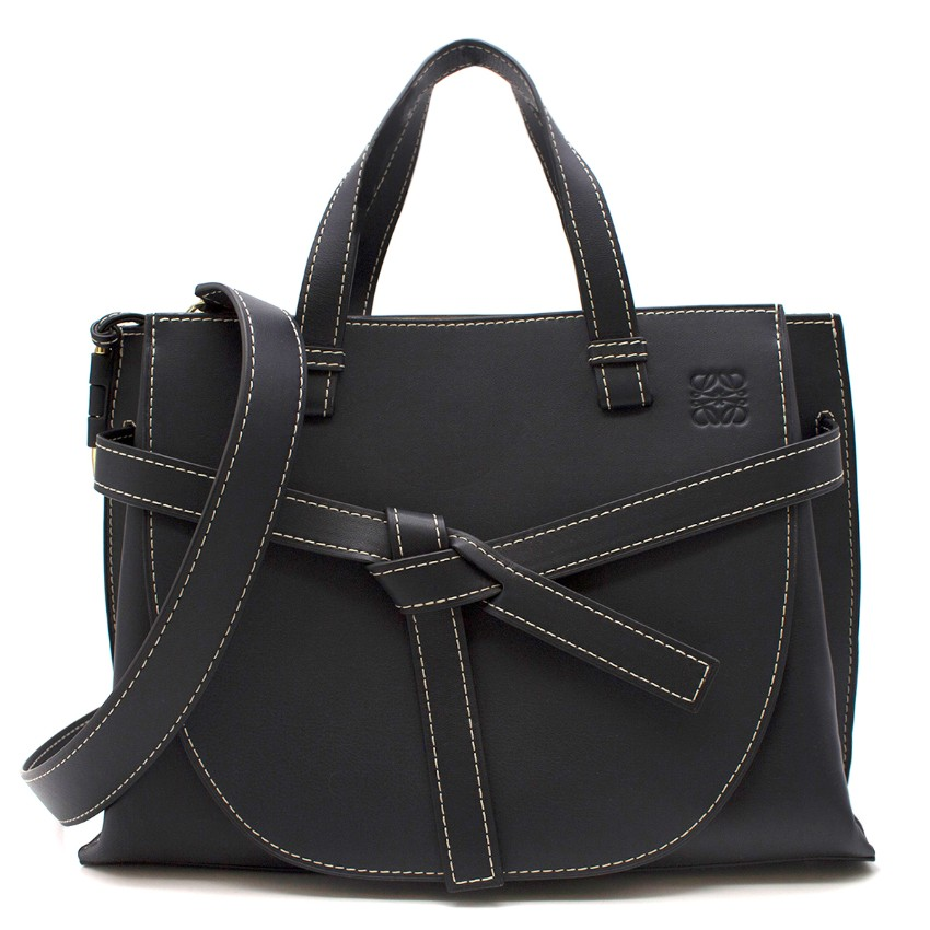 0ac977754d95e Loewe Gate Midnight Blue Leather Tote Bag | HEWI London