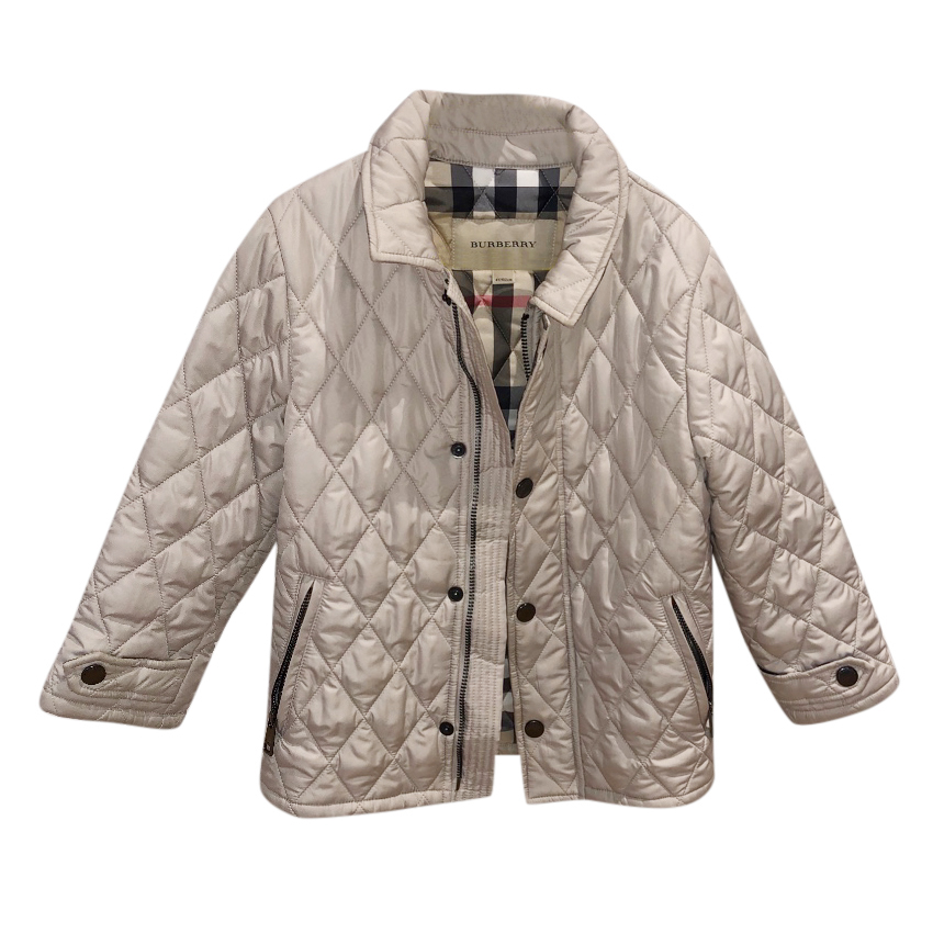Burberry Boys Beige Quilted Jacket