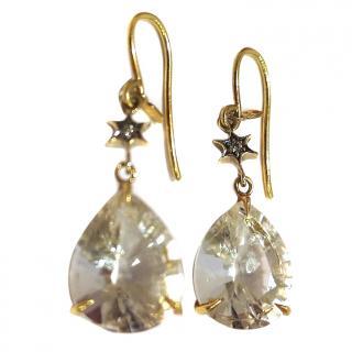 H. Stern Rock Crystal Drop Earrings
