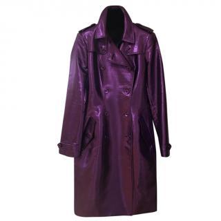 Burberry Prorsum metallic-purple trench coat