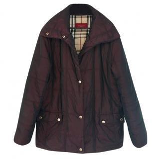 Burberry aubergine-purple quilted jacket