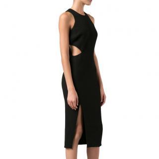 Elizabeth James side cut-out black dress
