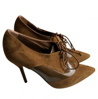 Yves Saint Laurent lace-up suede ankle boots