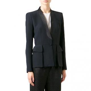 Alexander McQueen shawl-lapel jacket