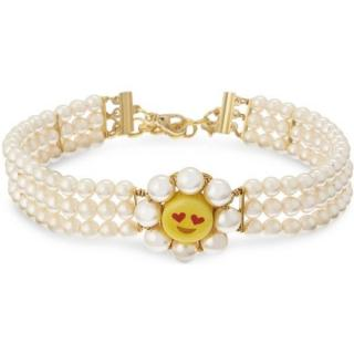 Venessa Arizaga Smiley pearl choker