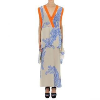 Fendi floral-print V-neck silk maxi dress