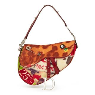 Christian Dior Victim Canvas Saddle Bag