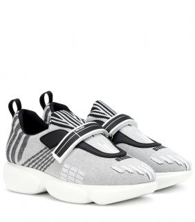 Prada Cloudbust low-top silver trainers