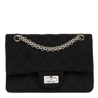 Chanel Quilted-Jersey 2.55 Reissue 224 Double Flap Bag