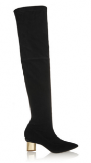 Nicholas Kirkwood over-the-knee suede boots