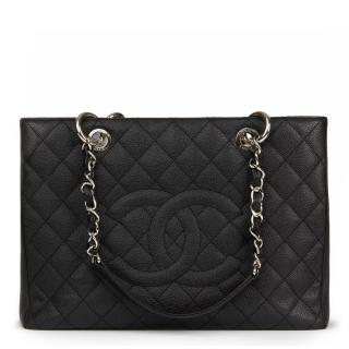Chanel Quilted Caviar Leather Grand Shopping Tote