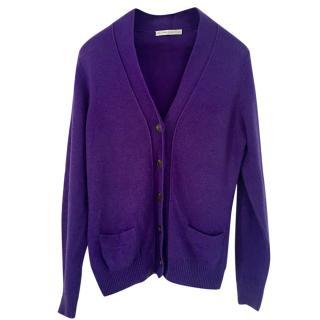 Belinda Robertson cashmere purple cardigan