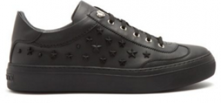 Jimmy Choo ace star-applique low-top leather trainers