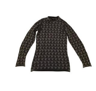 Emporio Armani wave-knit wool sweater