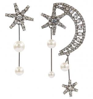 Jennifer Behr Cosmos Swarovski Crystal Mismatched Drop Earrings