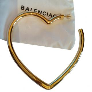 Balenciaga Gold Heart Single Earring