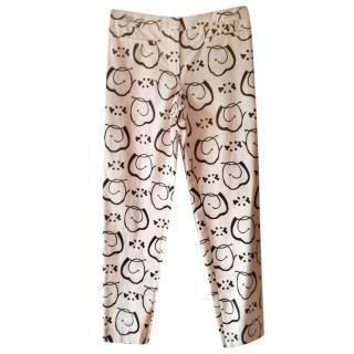 Max Mara Printed Pink Trousers
