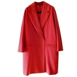 Max & Co Red Cocoon Coat