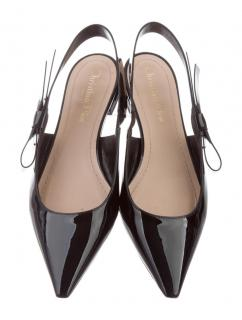Dior J'adior Sweet D Black Bow Slingbacks