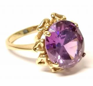 Bespoke Vintage Amethyst Cocktail Ring Yellow Gold