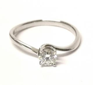 Bespoke Diamond Solitaire Ring 18ct Gold 0.23ct