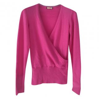 Thomas Pink pink crossover-front cashmere sweater