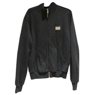 Dolce & Gabbana Men's Black Classic Zip Up Jumper