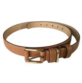 Aspinal tan leather belt