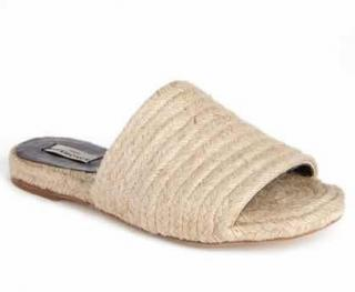 Balenciaga Natural Jute Slide Sandals