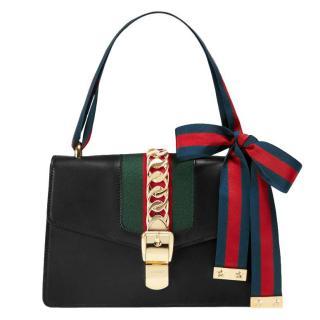 Gucci Sylvie Black Small Shoulder Bag 39150f5fb8ddb