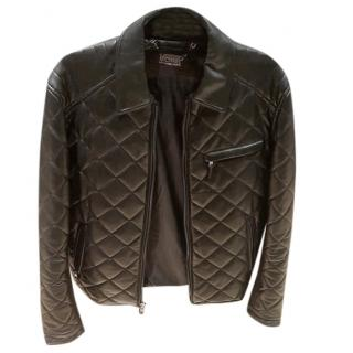 Michael Kors Black Leather Quilted Jacket