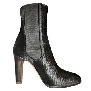 Chanel Pony Skin Black Boots