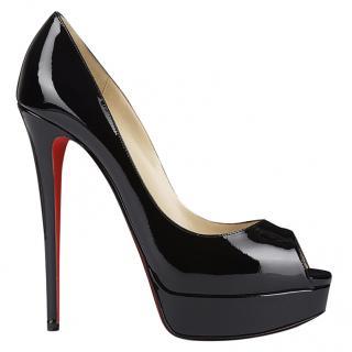 Christian Louboutin Lady Peep 150mm patent leather heels