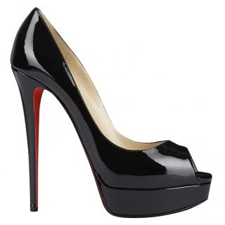Christian Louboutin Lady Peep 150mm patent leather heels