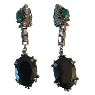 Mawi black onyx earrings