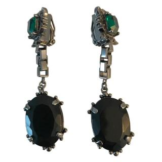 Mawi black onyx earrings