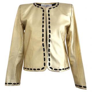 Yves Saint Laurent Rive Gauche Collectable Vintage Leather Jacket