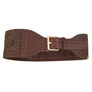 Jimmy Choo brown leather waist belt