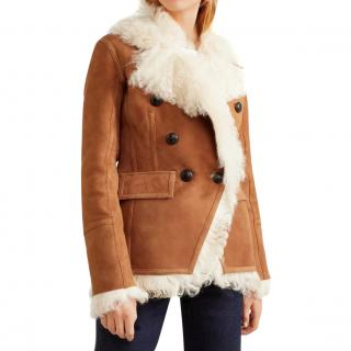 364526dee92ecf Veronica Beard Huntley Doublebreasted Shearling Jacket