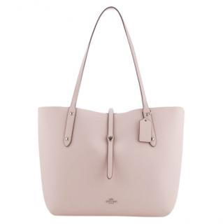 Coach pastel-pink leather tote bag