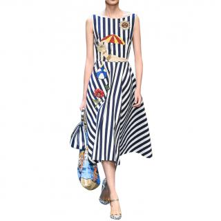 Dolce & Gabbana seaside-appliqu� A-line dress